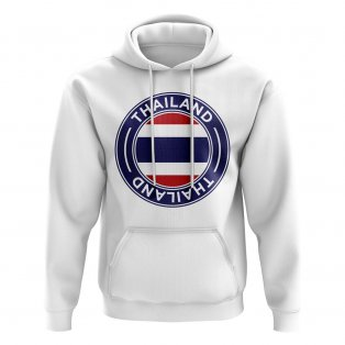 Thailand Football Badge Hoodie (White)