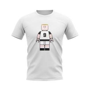 Alan Shearer Newcastle Brick Footballer T-Shirt (White)