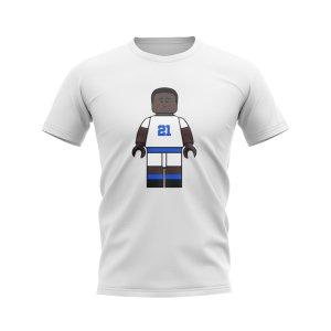 Tony Yeboah Leeds Brick Footballer T-Shirt (White)