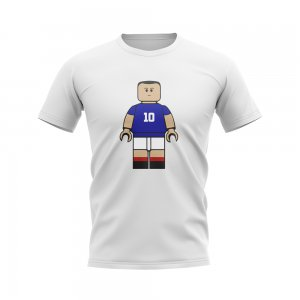 Zinedine Zidane France Brick Footballer T-Shirt (White)