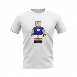Zinedine Zidane France Brick Footballer T-Shirt (White)