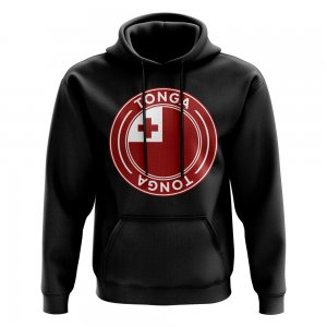 Tonga Football Badge Hoodie (Black)