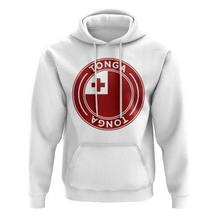 Tonga Football Badge Hoodie (White)