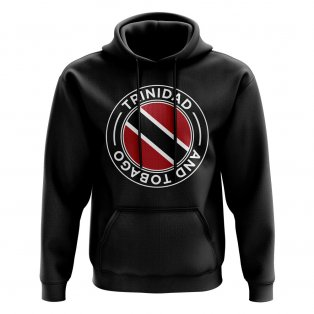 Trinidad and Tobago Football Badge Hoodie (Black)