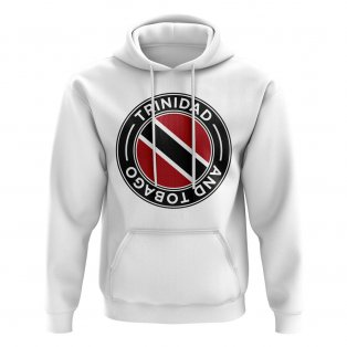 Trinidad and Tobago Football Badge Hoodie (White)
