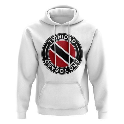 Trinidad and Tobago Football Badge Hoodie (White)
