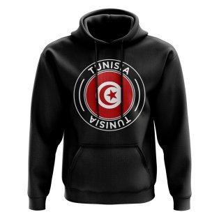 Tunisia Football Badge Hoodie (Black)