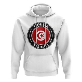 Tunisia Football Badge Hoodie (White)