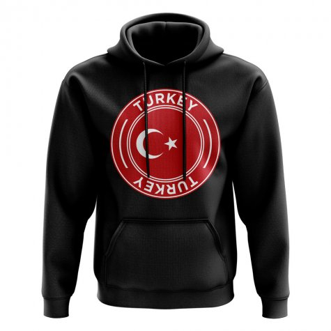 Turkey Football Badge Hoodie (Black)