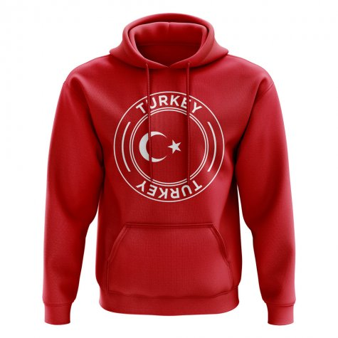 Turkey Football Badge Hoodie (Red)