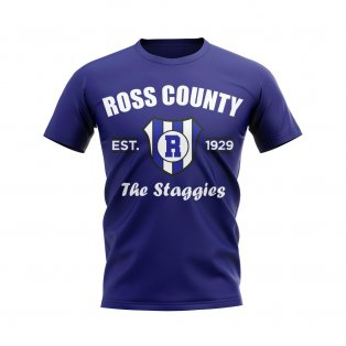 Ross County Established Football T-Shirt (Navy)