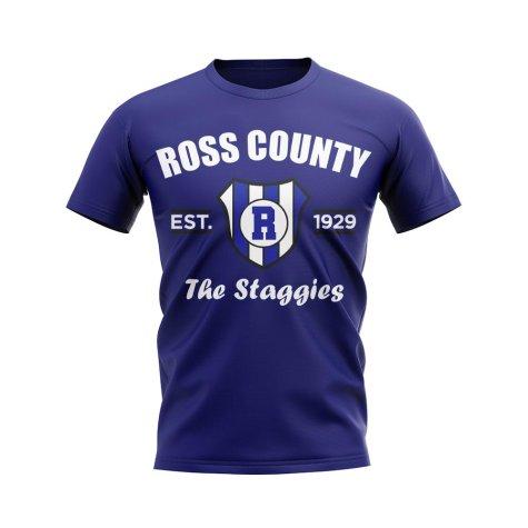 Ross County Established Football T-Shirt (Navy)
