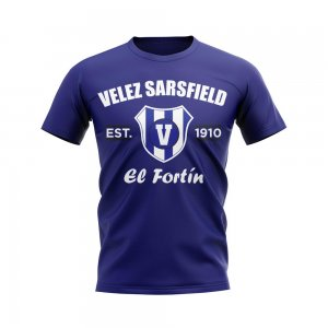 Velez Sarsfield Established Football T-Shirt (Navy)