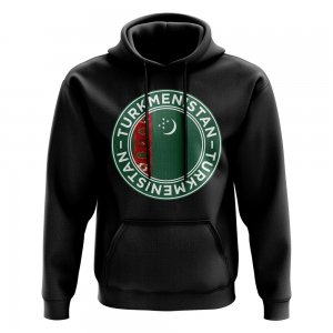 Turkmenistan Football Badge Hoodie (Black)