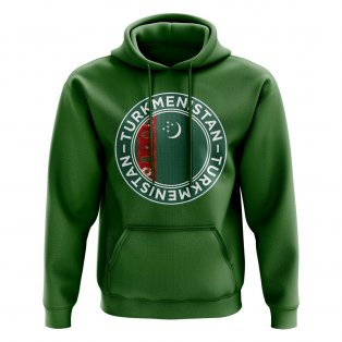 Turkmenistan Football Badge Hoodie (Green)