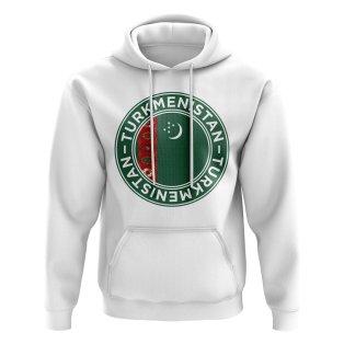 Turkmenistan Football Badge Hoodie (White)