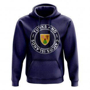 Turks and Caicos Islands Football Badge Hoodie (Navy)