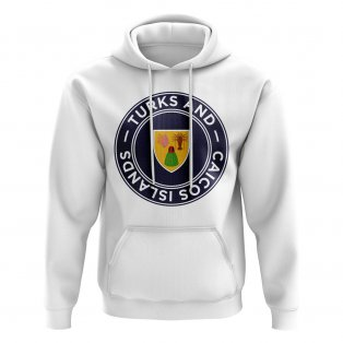 Turks and Caicos Islands Football Badge Hoodie (White)