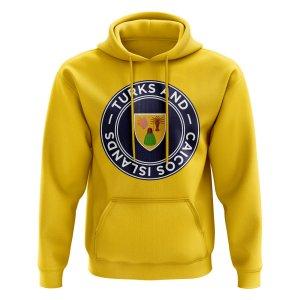 Turks and Caicos Football Badge Hoodie (Yellow)