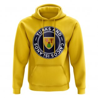 Turks and Caicos Football Badge Hoodie (Yellow)