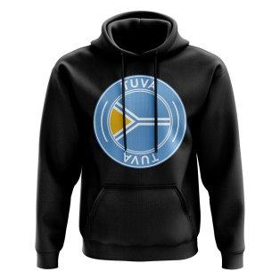 Tuva Football Badge Hoodie (Black)