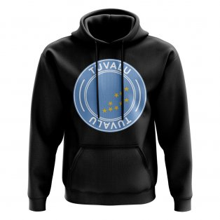 Tuvalu Football Badge Hoodie (Black)
