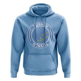 Tuvalu Football Badge Hoodie (Sky)