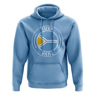 Tuva Football Badge Hoodie (Sky)
