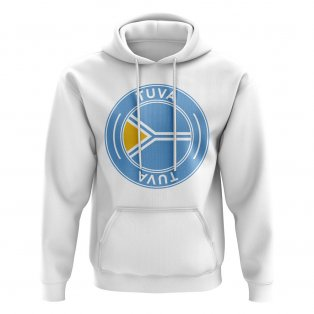 Tuva Football Badge Hoodie (White)