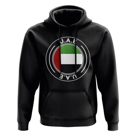 UAE Football Badge Hoodie (Black)