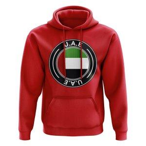 UAE Football Badge Hoodie (Red)