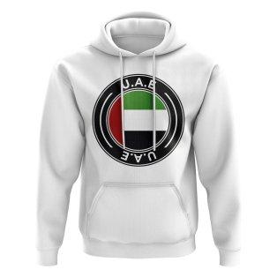 UAE Football Badge Hoodie (White)
