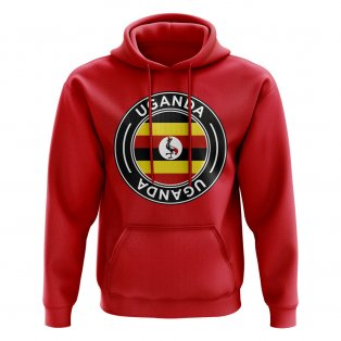 Uganda Football Badge Hoodie (Red)