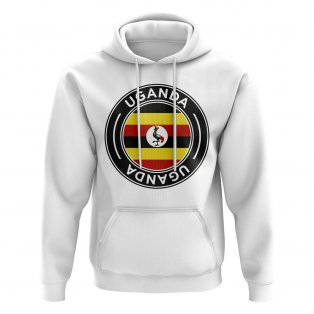 Uganda Football Badge Hoodie (White)