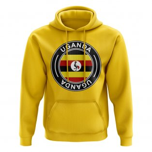 Uganda Football Badge Hoodie (Yellow)