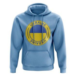 Ukraine Football Badge Hoodie (Sky)