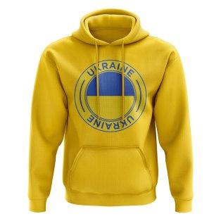 Ukraine Football Badge Hoodie (Yellow)