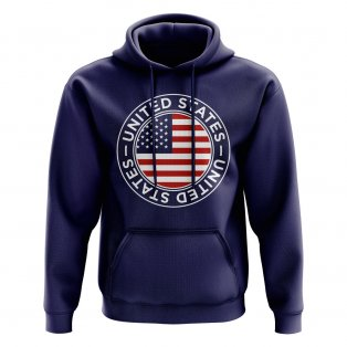USA Football Badge Hoodie (Navy)