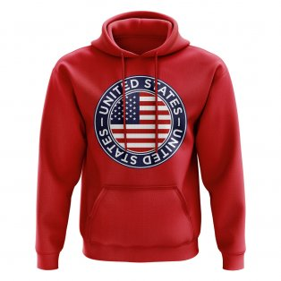 USA Football Badge Hoodie (Red)