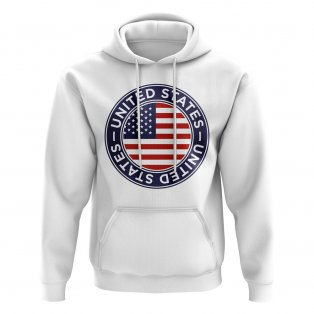 Usa Football Badge Hoodie (White)