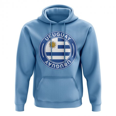 Uruguay Football Badge Hoodie (Sky)