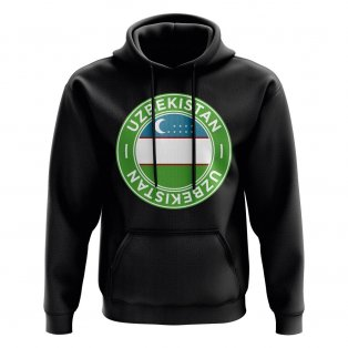 Uzbekistan Football Badge Hoodie (Black)