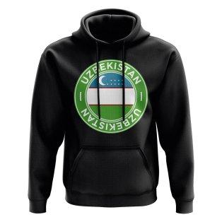Uzbekistan Football Badge Hoodie (Black)