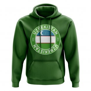 Uzbekistan Football Badge Hoodie (Green)