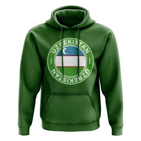 Uzbekistan Football Badge Hoodie (Green)