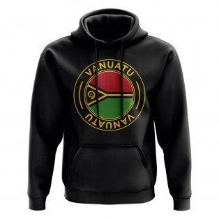 Vanuatu Football Badge Hoodie (Black)