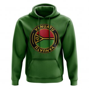 Vanuatu Football Badge Hoodie (Green)