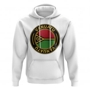 Vanuatu Football Badge Hoodie (White)