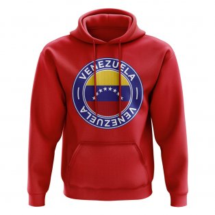 Venezuela Football Badge Hoodie (Red)