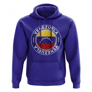 Venezuela Football Badge Hoodie (Royal)